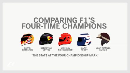 Comparing F1's four-time world champions