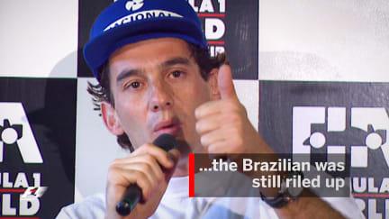 F1 Vault: Senna rages after bust-up with backmarker Irvine