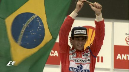 F1 Vault: Senna overcomes the odds for emotional home win