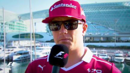Secrets of success... Kimi Raikkonen's tips for a hot lap in Abu Dhabi