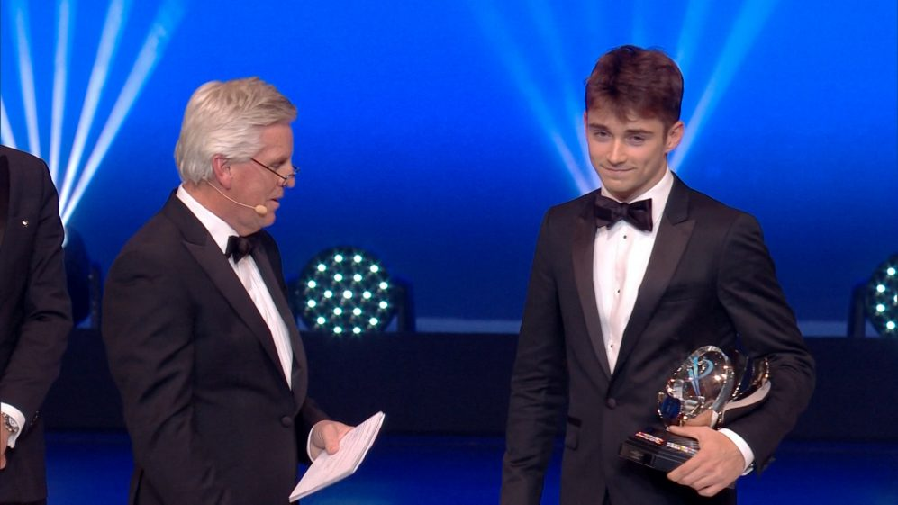 FIA Awards: New Sauber driver Charles Leclerc crowned best rookie