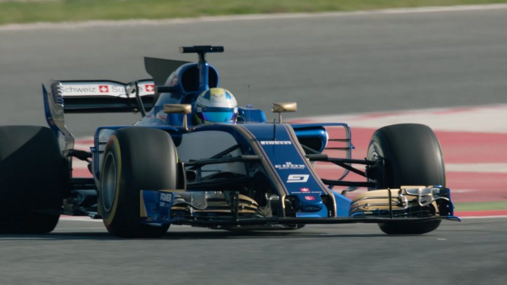 The Sauber C36 makes its track debut in Spain