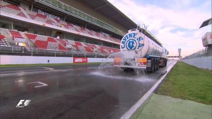 Pirelli's Mario Isola on Barcelona's wet tyre test