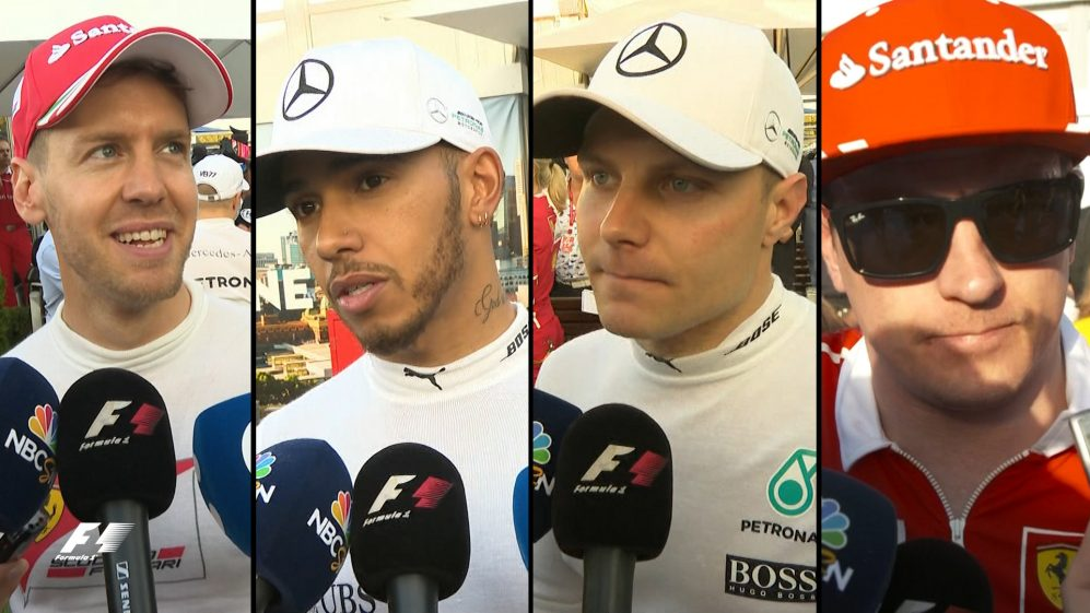 Drivers report back after the race in Australia