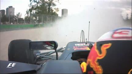 Qualifying - Ricciardo puts his Red Bull into the wall