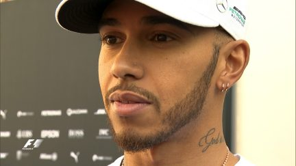 Hamilton not happy with Mercedes' morning