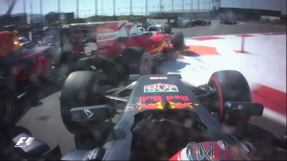 F1 Vault: Kvyat punts Vettel into early exit