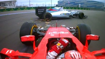 Classic onboard: Bottas and Raikkonen's dramatic last lap tangle