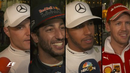 Drivers report back after the race in Bahrain