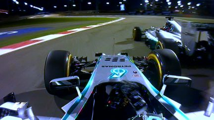 Classic Onboard - Rosberg and Hamilton's 'Duel in the desert'
