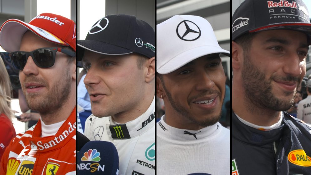 Drivers report back after qualifying in Russia