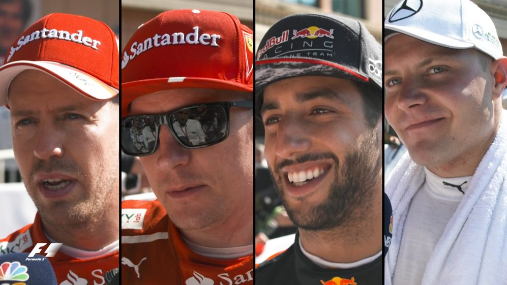 Drivers report back after the race in Monaco