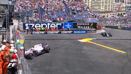 FP3: Ocon goes heavily into the barriers