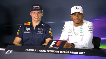Drivers face the press in Spain