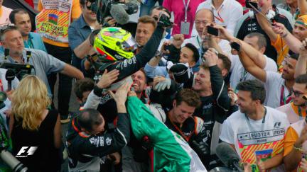 F1 Vault: Perez stars in inaugural Baku race