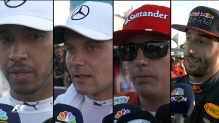 Drivers report back after qualifying in Azerbaijan