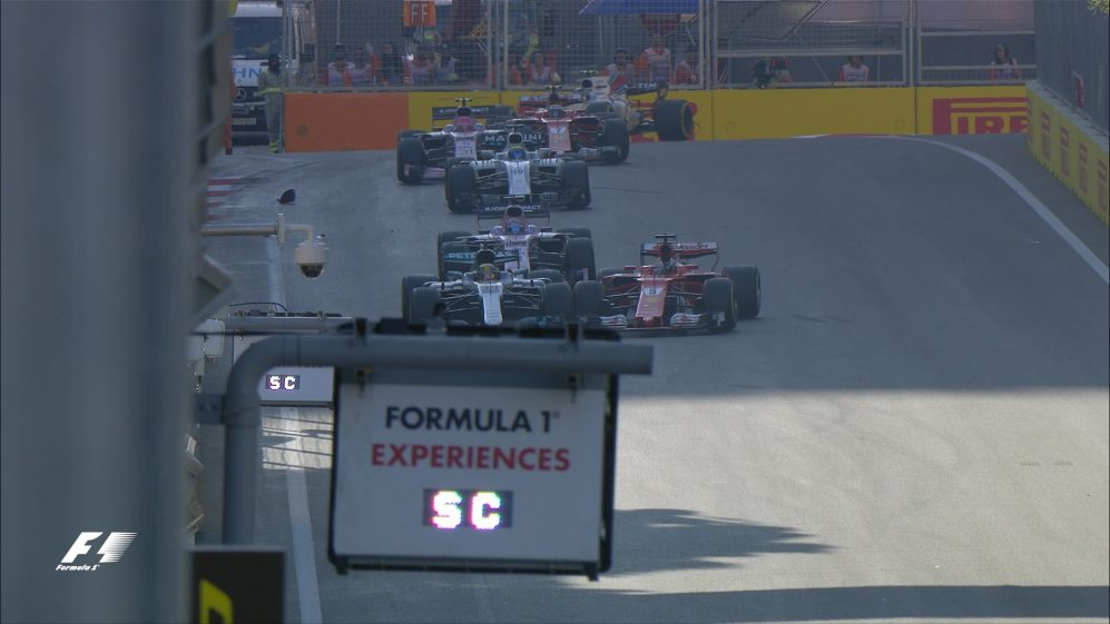 Race: Vettel and Hamilton collide under the safety car