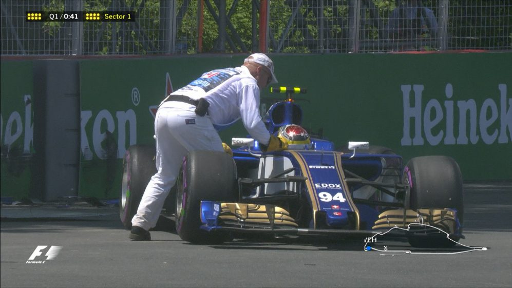 Qualifying: Wehrlein backs it into the Montreal barriers