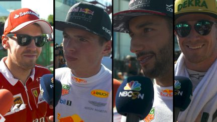 Drivers report back after the race in Hungary