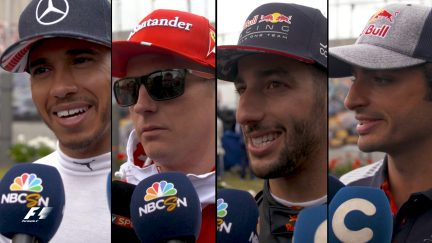 Drivers report back after the race in Great Britain
