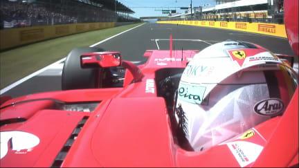 Onboard pole position lap - Sebastian Vettel, Hungary 2017