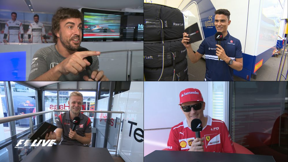 F1 Live: Drivers practice their London lingo