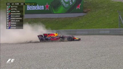 Qualifying: Verstappen spins into the gravel at the end of Q3