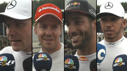 Drivers report back after the race in Austria