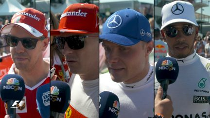 Drivers report back after qualifying in Hungary
