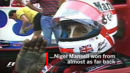 F1 Vault: Mansell defeats Senna from 12th on the grid