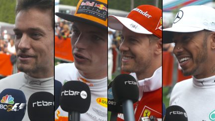 Drivers report back after qualifying in Belgium
