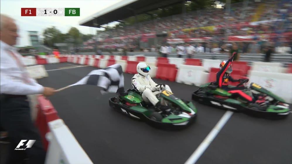 F1 vs Football: Heineken Champions of the Grid karting