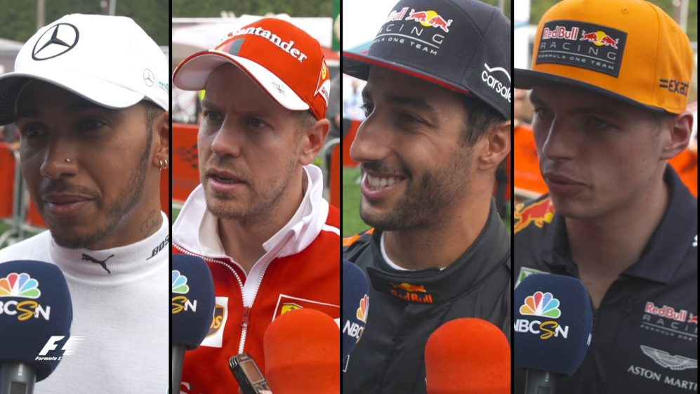 Drivers report back after the race in Belgium