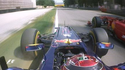 Classic onboard: Vettel takes to the grass in battle with Alonso