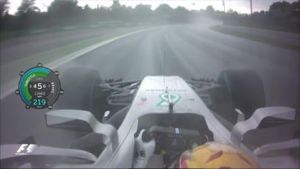 Onboard pole position lap - Lewis Hamilton, Italy 2017