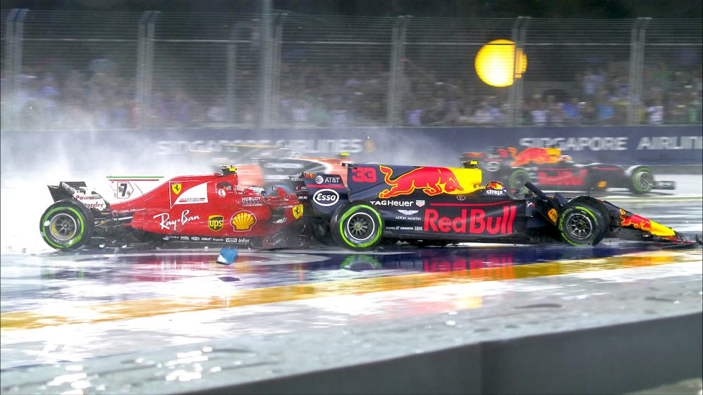 All the angles – Singapore's start-line crash