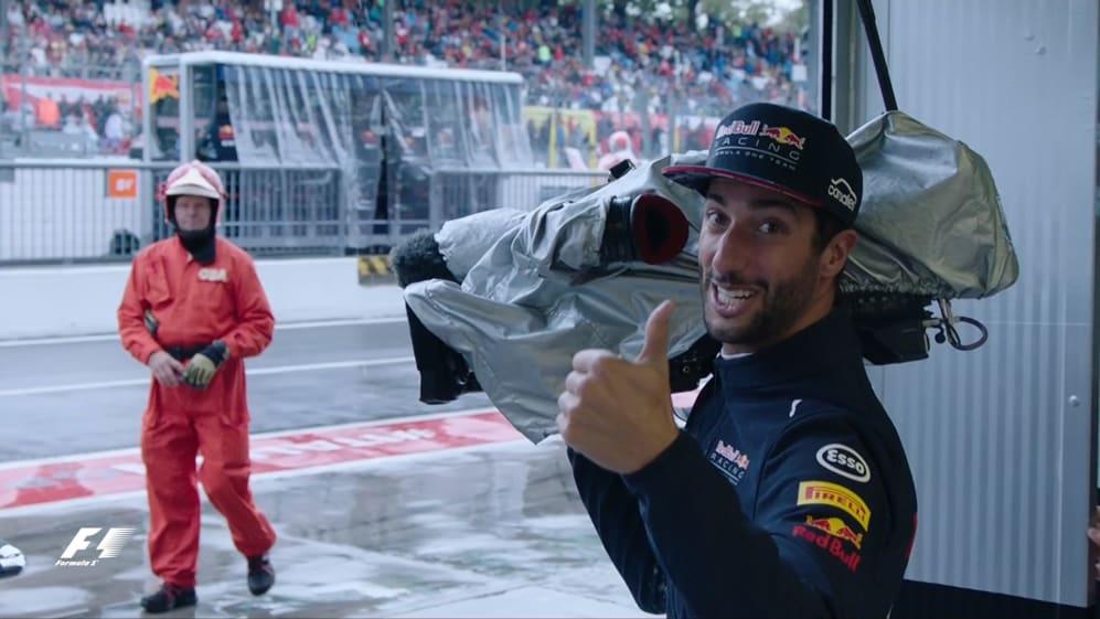 F1 fun during the qualifying rain delay