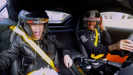 FRIGHT FEST: Millie Bobby Brown's Hot Lap with Lewis
