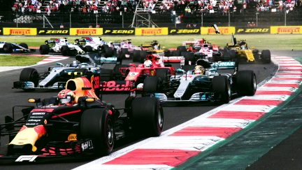 F1 Vault: Drama as Hamilton wins fourth title in Mexico