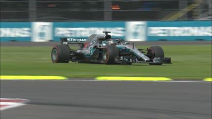 RACE: Hamilton and Bottas run off track under pressure