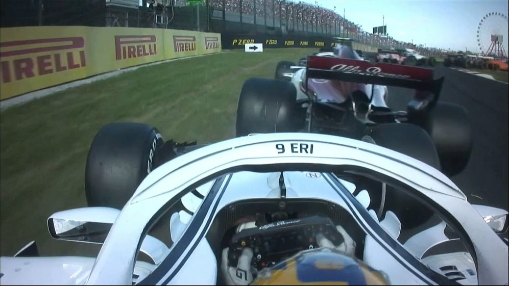 RACE: Saubers collide as Ericsson hits the rear of team mate Leclerc