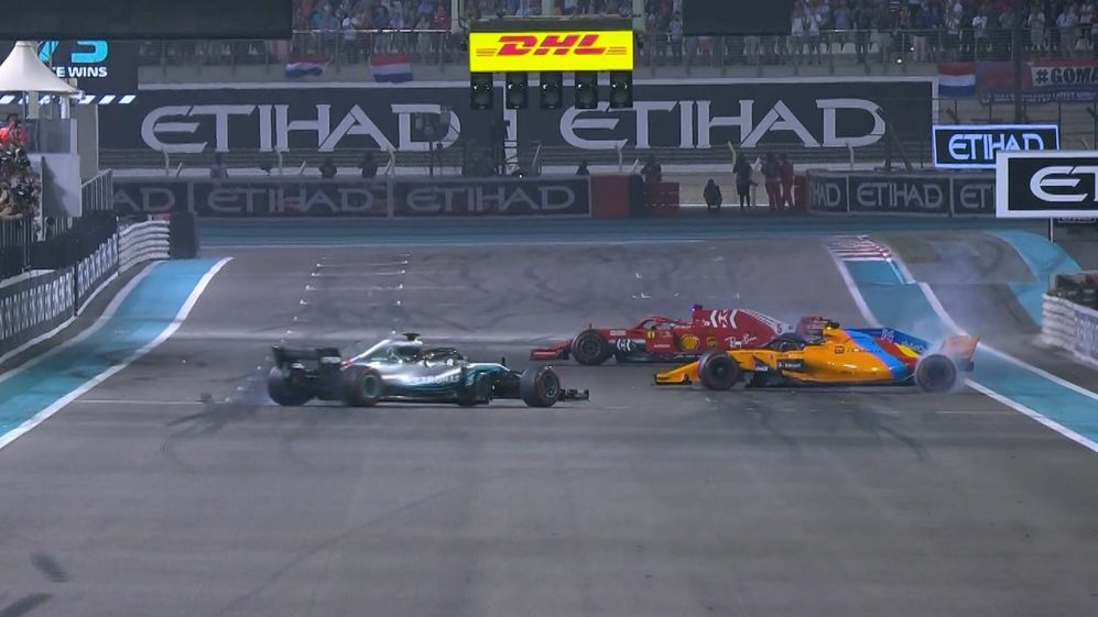 Hamilton, Vettel and Alonso sign off 2018 season with display of donuts