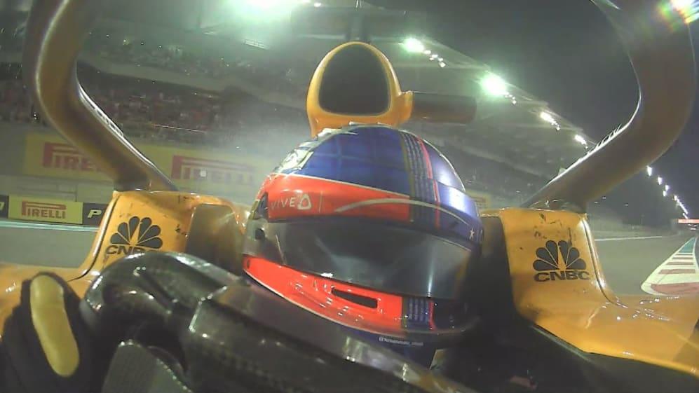 ONBOARD: Alonso cuts same corner three times in Abu Dhabi
