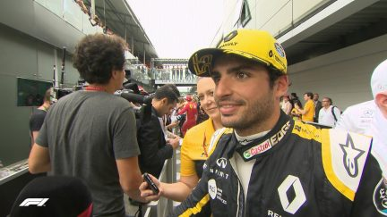 SAINZ: Hulkenberg battle was fun