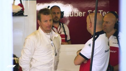 MUST-SEE: Kimi Raikkonen's first day back at Sauber