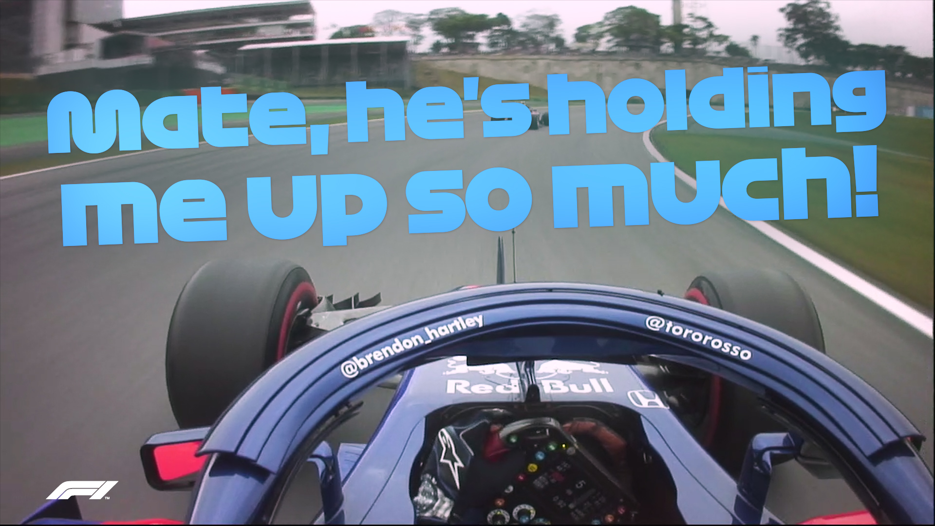 Hartley and Gasly's team radio stand-off in Brazil