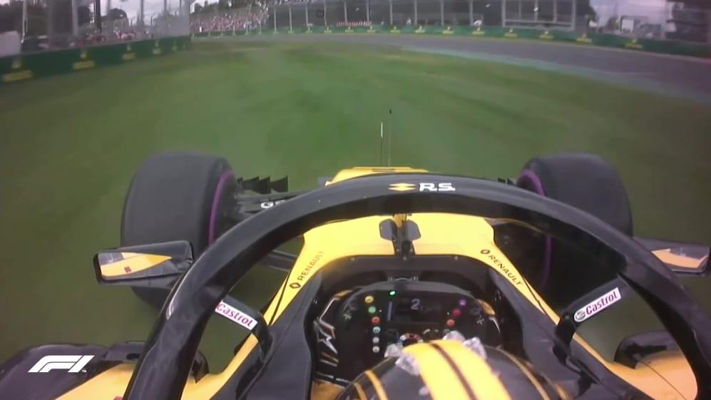 Qualifying: Hulkenberg runs out of road at Turn 1