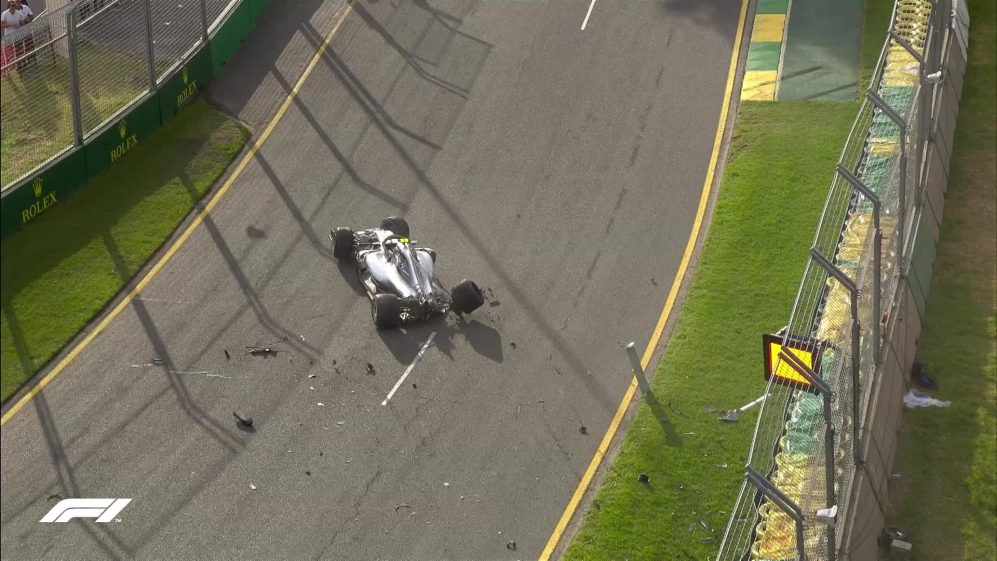 Qualifying: Bottas crashes out at speed in Q3