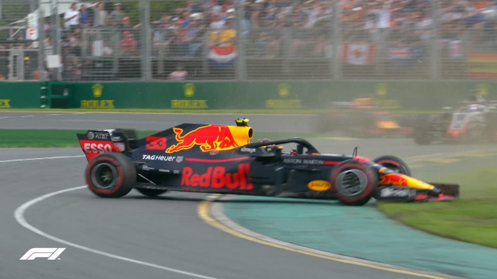 RACE: Verstappen survives 360-degree spin