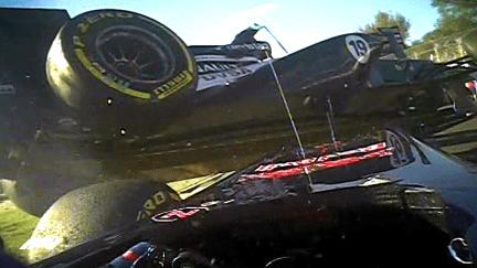 Australian GP: 5 crazy onboard moments
